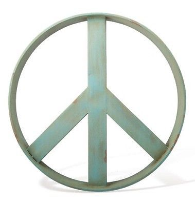 For Over My Bed I Want To Paint A Huge Earth Green Peace Sign Just Like This Ivory White Or Cream R Peace Sign Wall Art Peace Wall Art Industrial