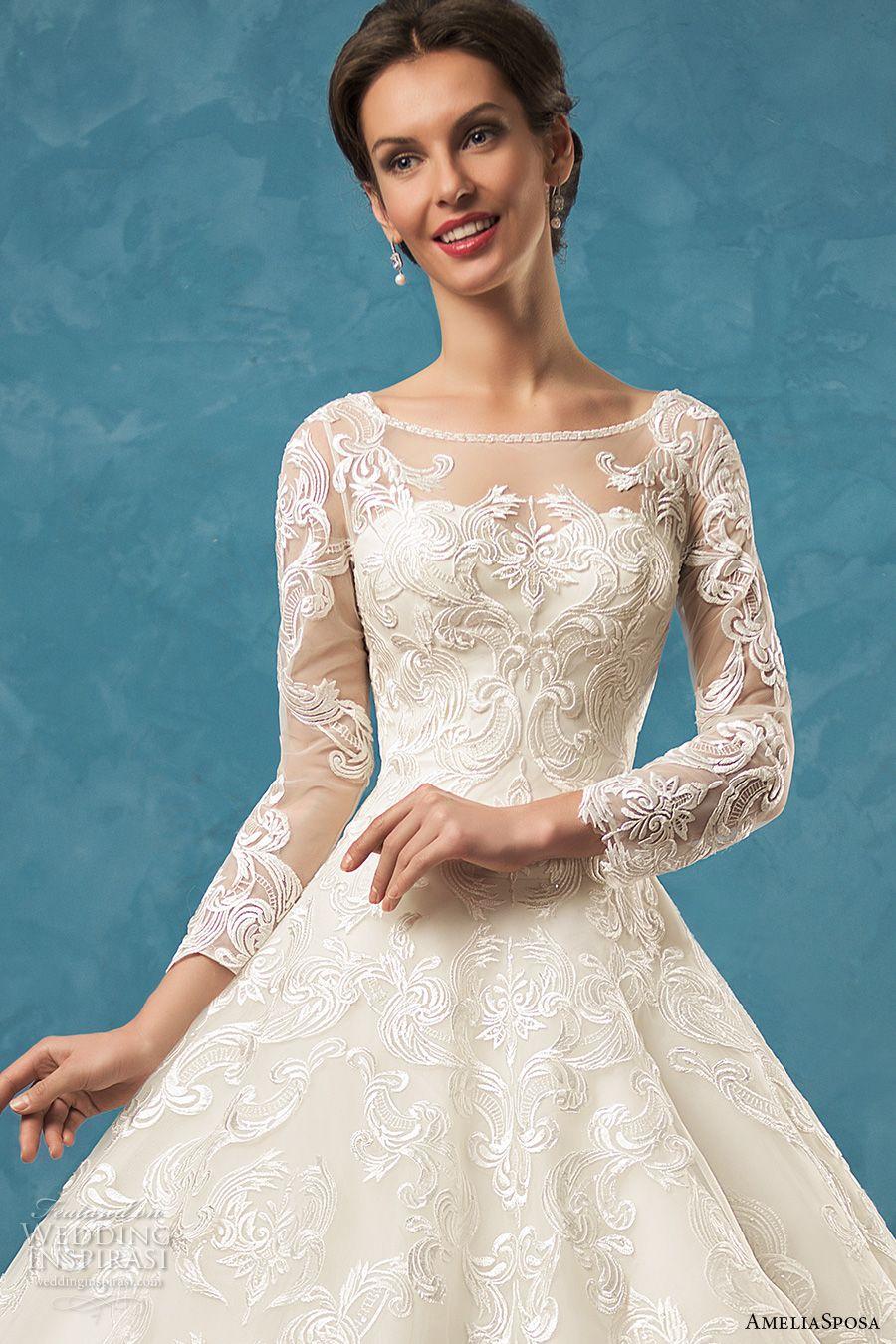 Amelia Sposa 2017 Wedding Dresses | Amelia sposa, Lace bodice and Amelia
