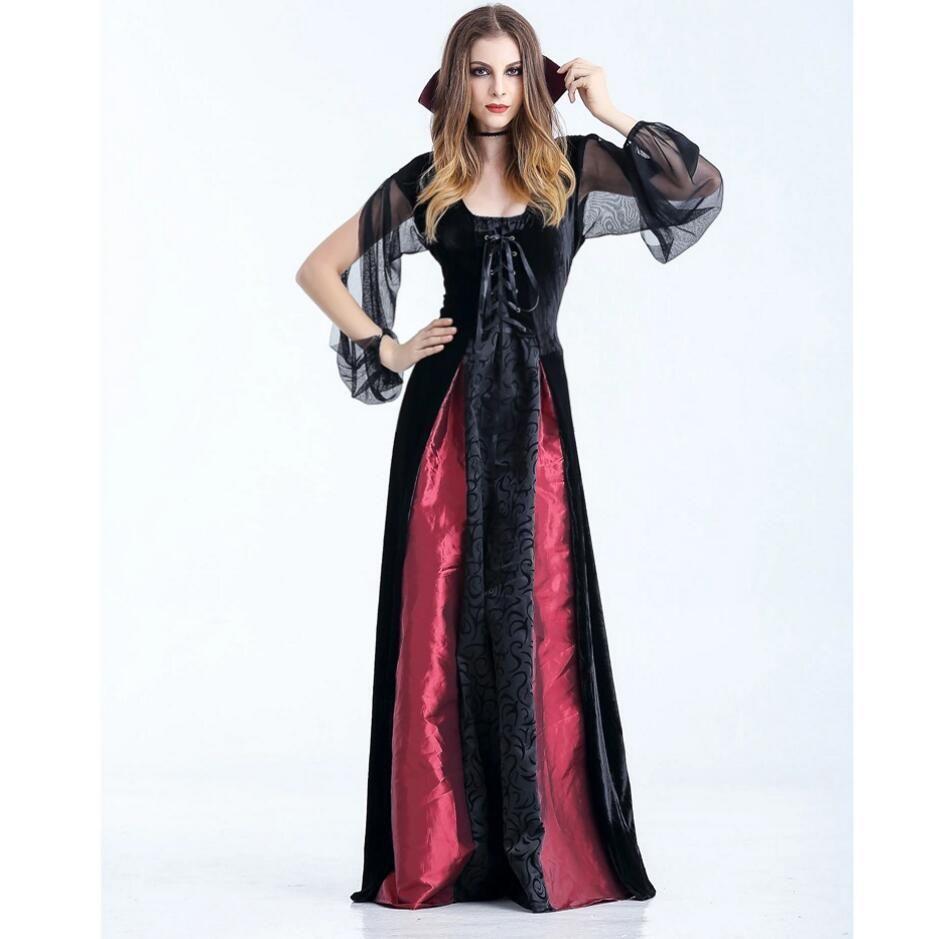 Black witch costume halloween costume vampire witch zombie costume
