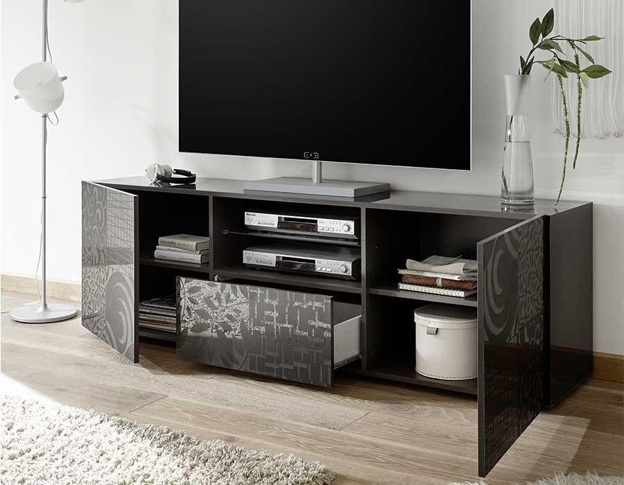 Meuble télévision gris design H meHome