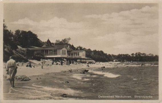 Ostseebad Neukuhren. Strandpartie.