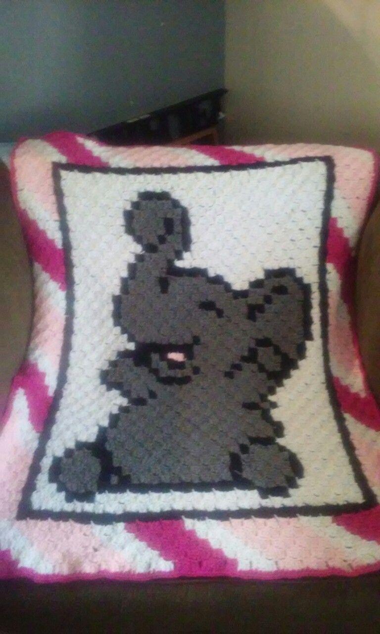 Crochet Elephant Blanket - Great Baby Shower Gift- Crochet