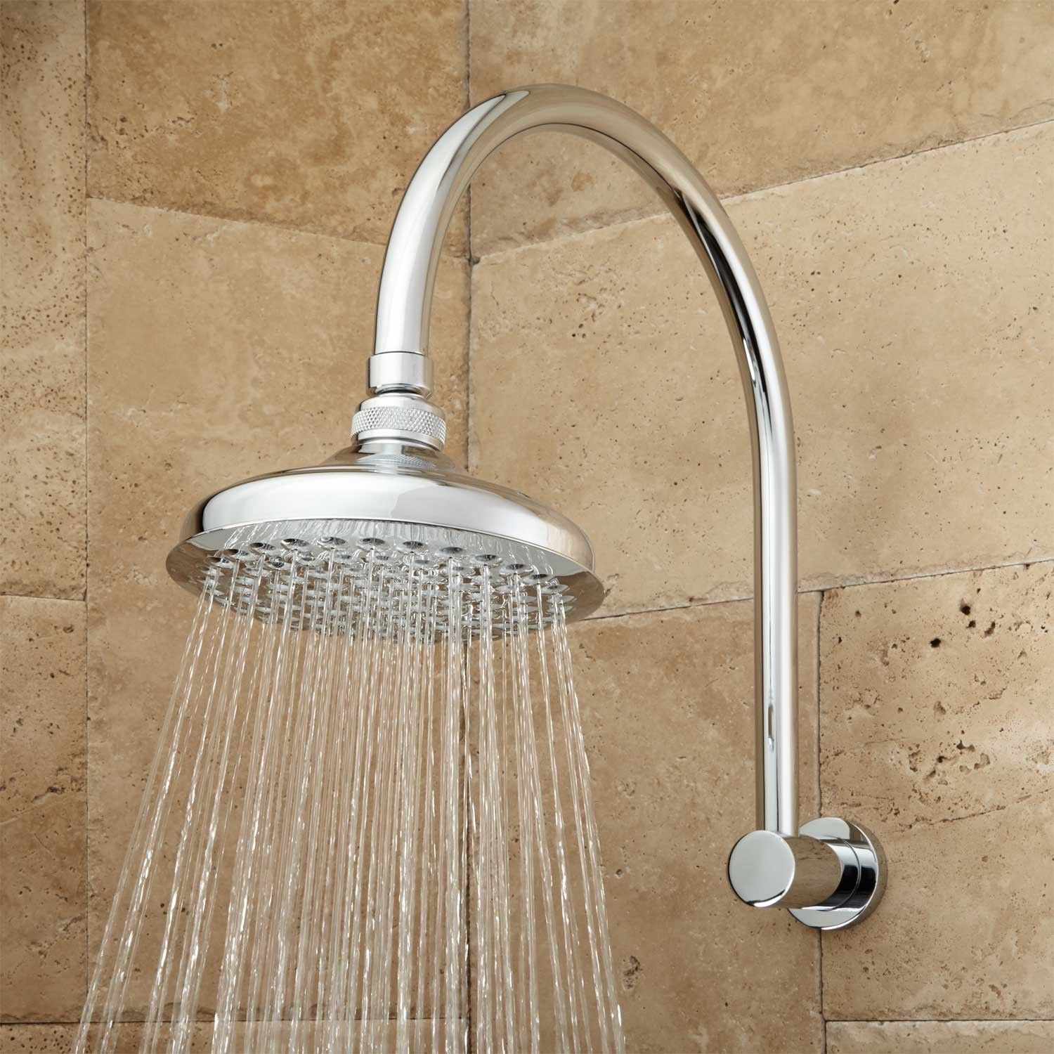 Roux Rainfall Shower Head With Modern Arm Shower Heads