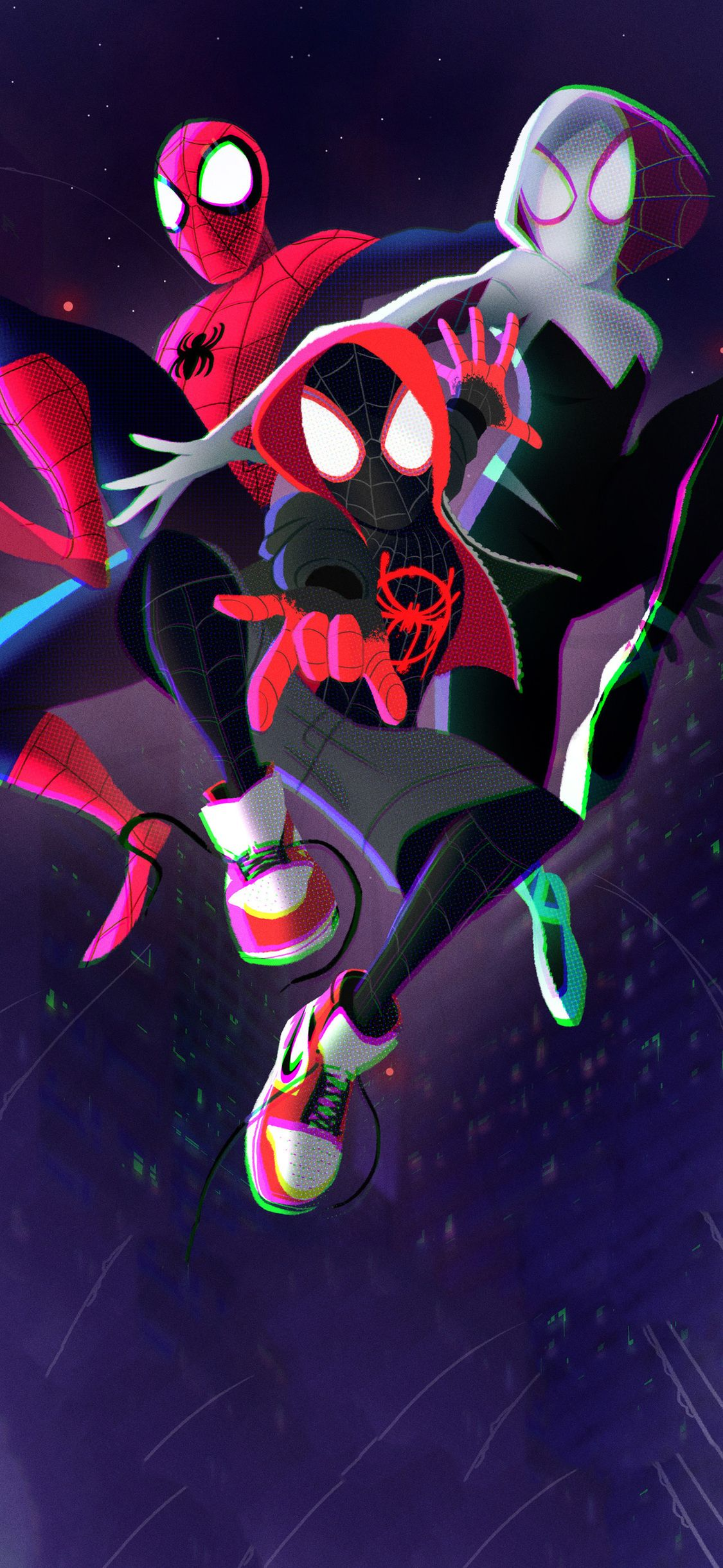 1125x2436 Spiderman Into The Spider Verse 2018 Art Iphone Xs Iphone 10 Iphone X Hd 4k Wallpapers Images Backgr Iphone Wallpaper Marvel Wallpaper Spider Verse