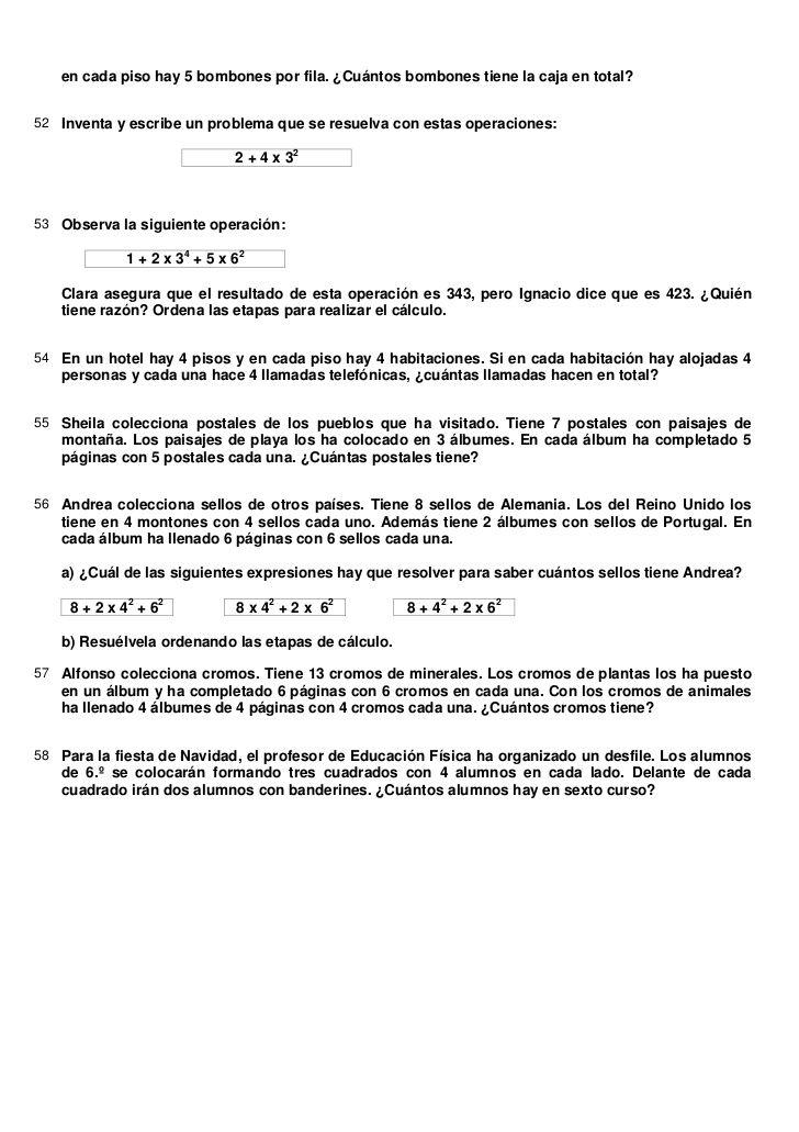Ejercicios + solucionario potencias | matematicas sexto | Pinterest ...