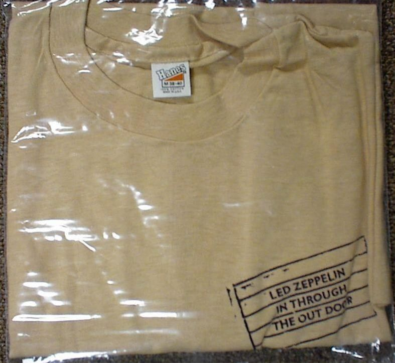 Led Zeppelin In Through The Out Door Promotional T Shirt Led Zeppelin Zeppelin Rock And Roll Bands