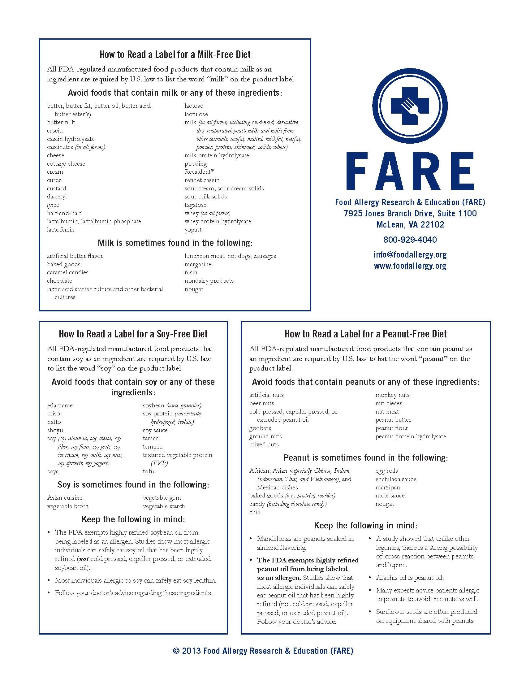 How To Read Food Labels For Allergy