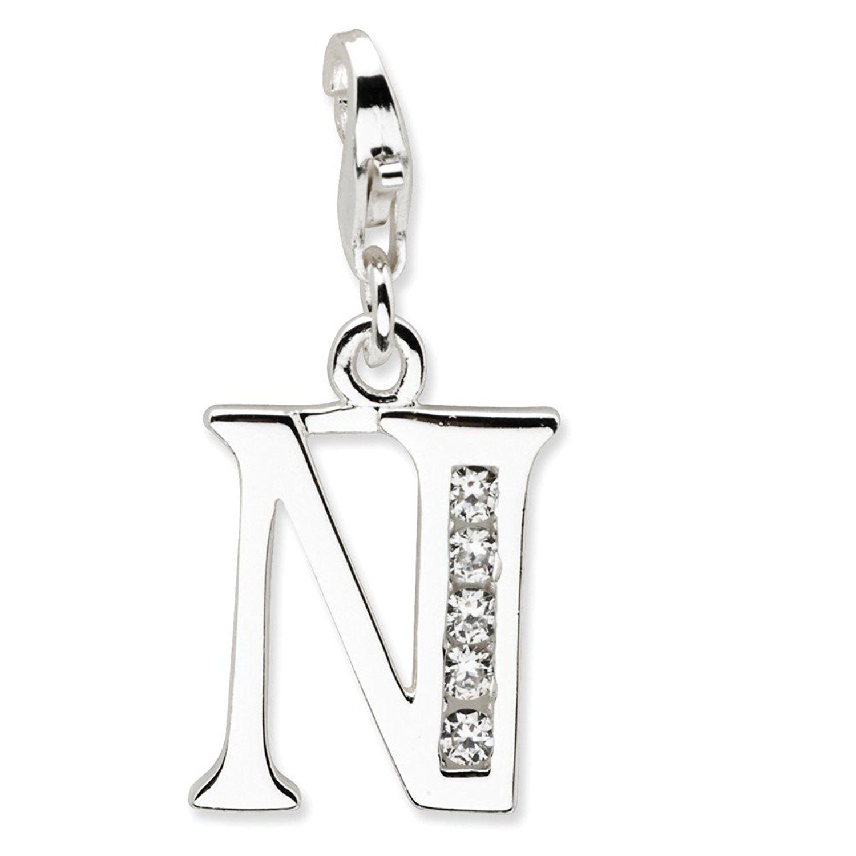 Roy Rose Jewelry Sterling Silver Amore la Vita CZ Letter N