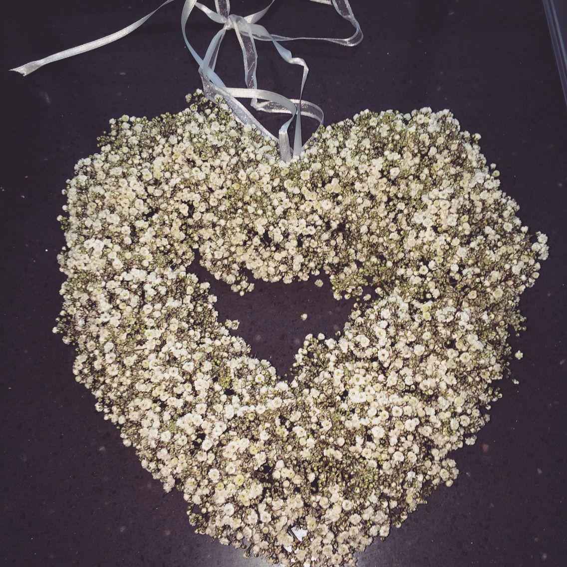 Net een hart van gipskruid gemaakt