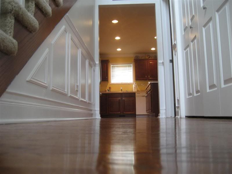 Superior Chair Rail Foyer Part - 5: Picture Molding Wainscot In Foyer And Stairway - Project Showcase - DIY  Chatroom - DIY Home