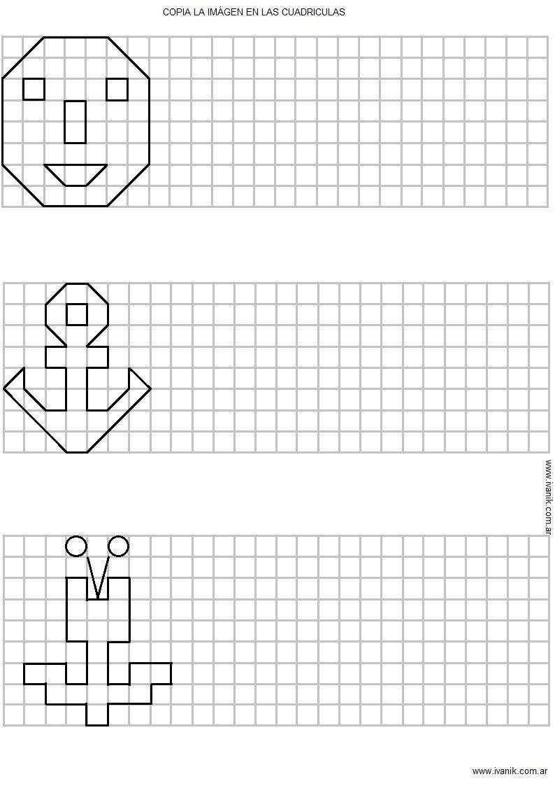 Resultado De Imagen Para Dibujos En Cuadricula Faciles Ejercicios De Escritura Cuadricula Actividades Escolares