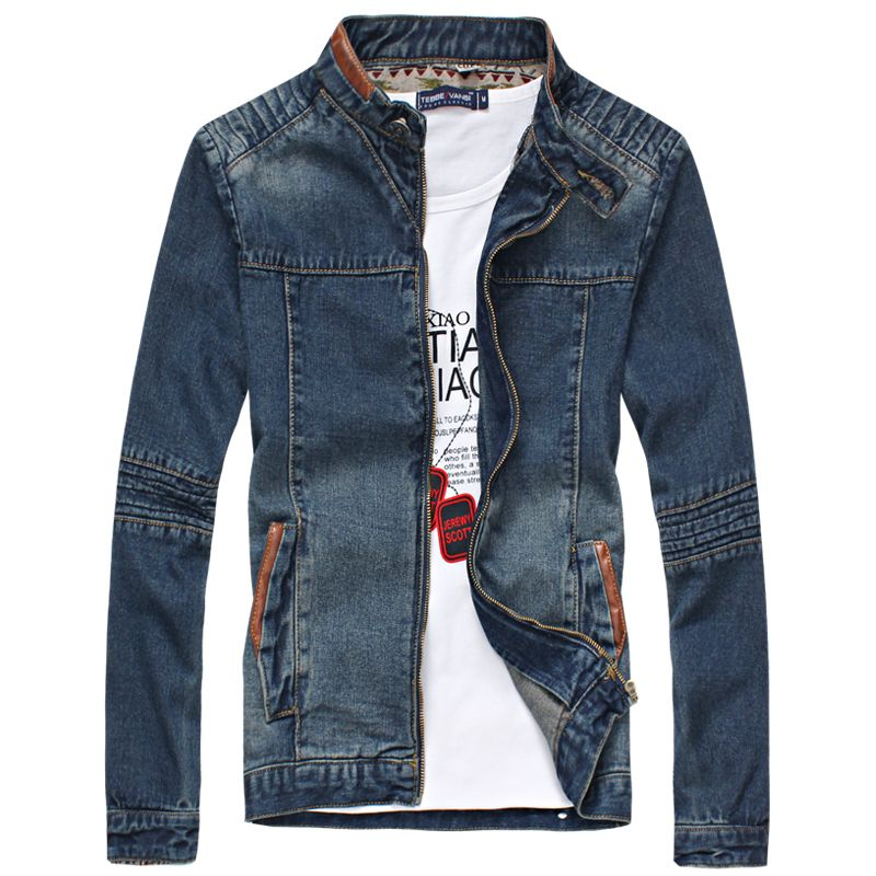 Denim Jacket Men Fashion 2017 New Arrival Mandarin Collar ...