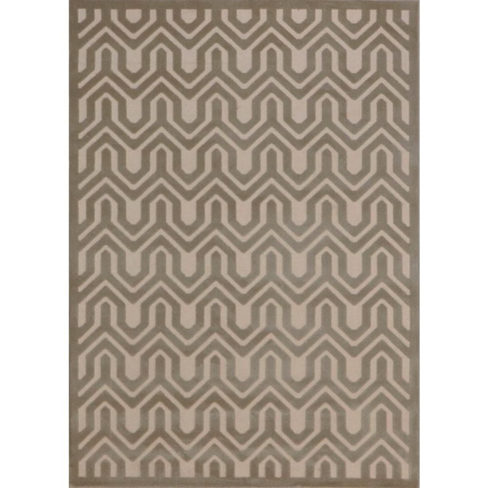 Ultima Ivory/Light Grey 7 ft. 9 in. x 10 ft. 10 in. Area Rug