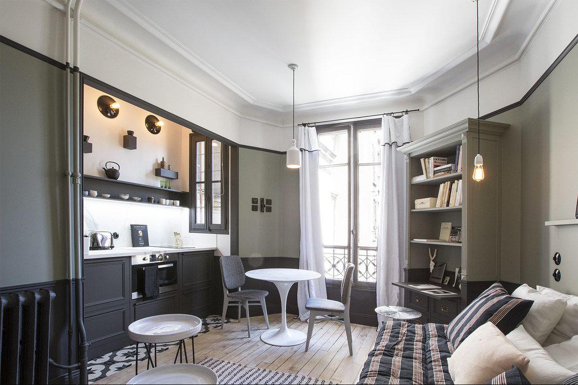 Location Studio Meuble Rue Lentonnet Paris Ref 12723 Studio Meuble Amenagement Petit Appartement Petit Espace De Vie