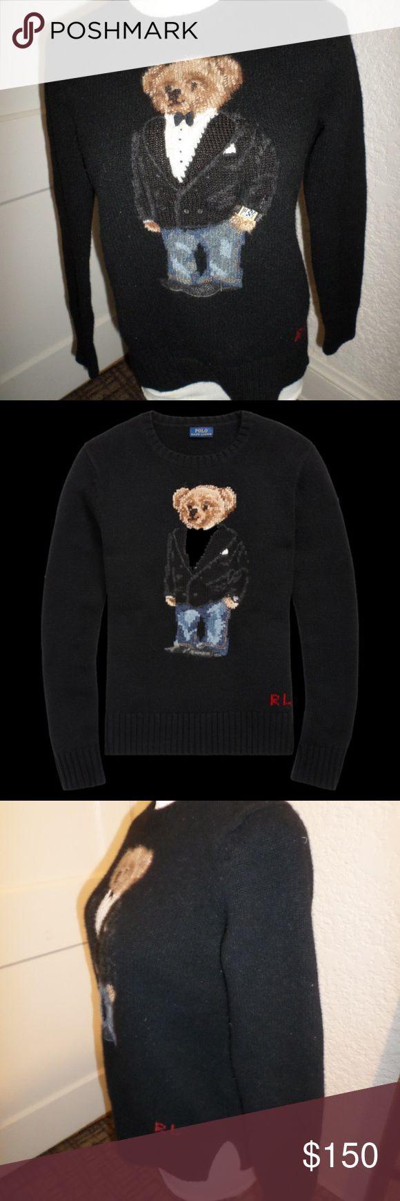 Tuxedo Wool Polo Lauren Signa Ralph Sweater Bear S zLGSUVMpq