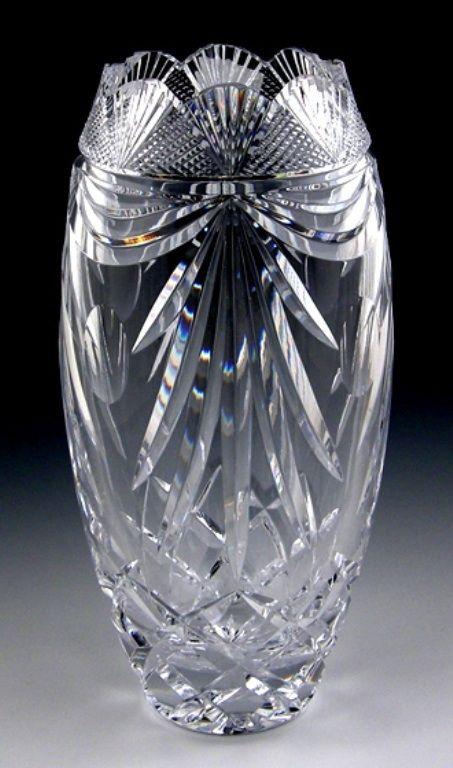 Heritage Irish Crystal Irish Lace Or Lotus Vase In 2020 Crystal Vase Crystal Glassware Antiques Crystal Glassware
