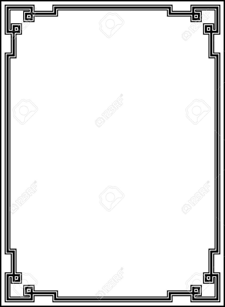 4960556 vector decorative frame stock vector border deco art jpg rh pinterest co uk art deco frame free vector art deco frame vector free download