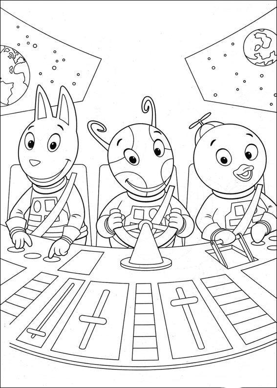 Backyardigans Fargelegging for barn. Tegninger for utskrift og fargelegging nº 22
