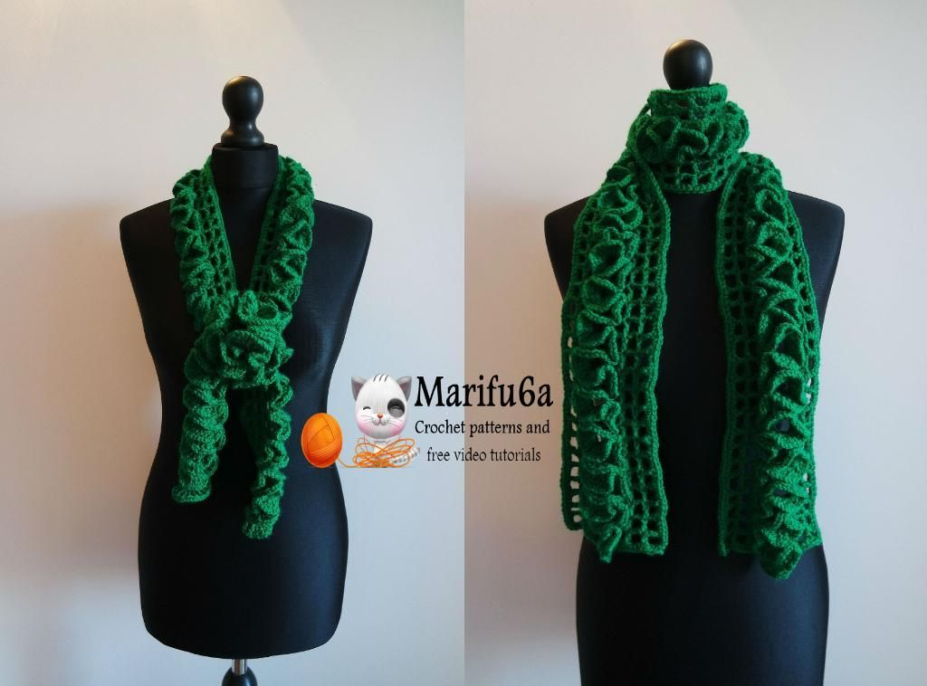 Crochet Ruffle Scarf For Beginners Crochet Ruffle Scarf Crochet