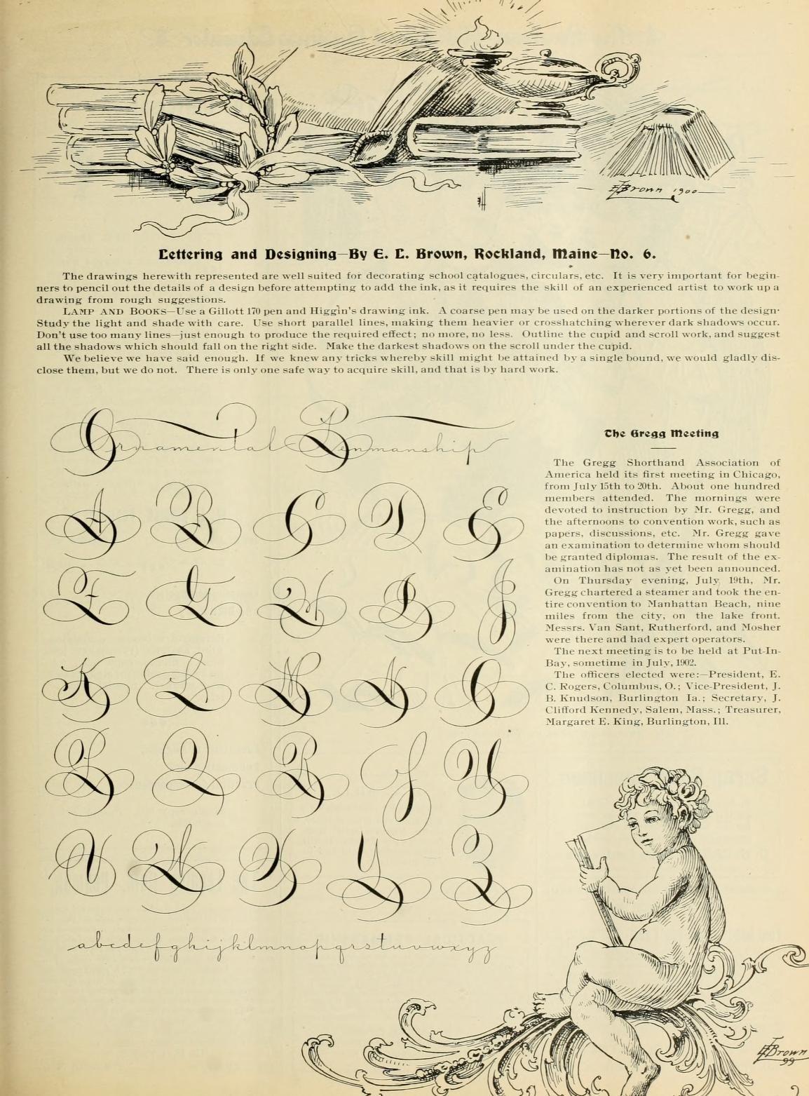Ornamental Penmanship Exemplar From The Penman Artist And