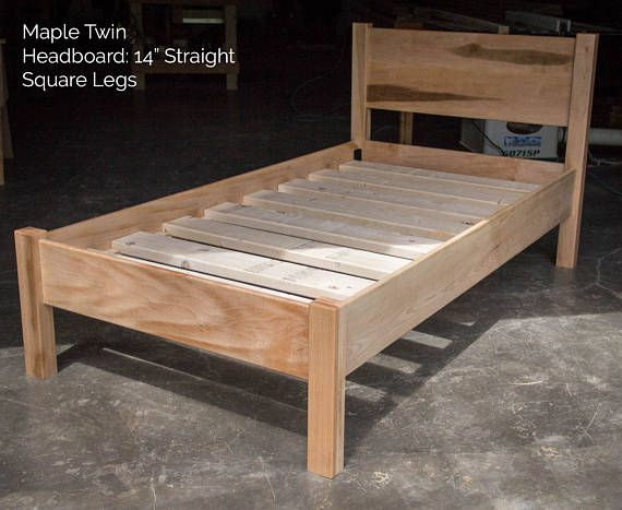 Curly Maple Simple Bed Platform Bed Frame Straight Etsy In 2020 Simple Bed Diy Bed Frame Wood Bed Design