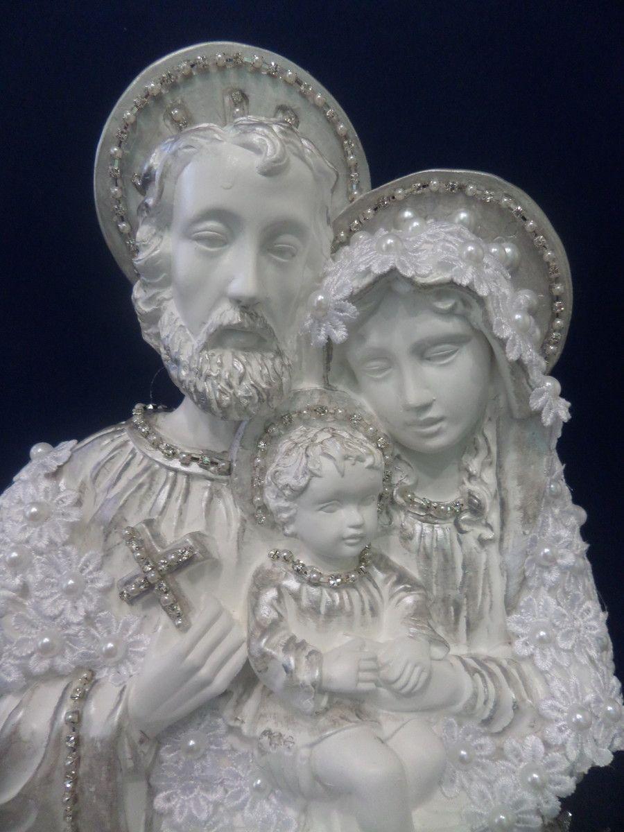 Sagrada Familia Com Manto De Perola Com Imagens Imagem Sagrada