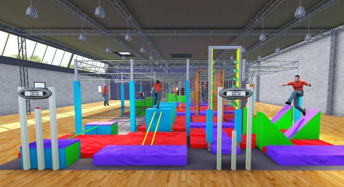 Ninja warrior course designer manufacturer builder