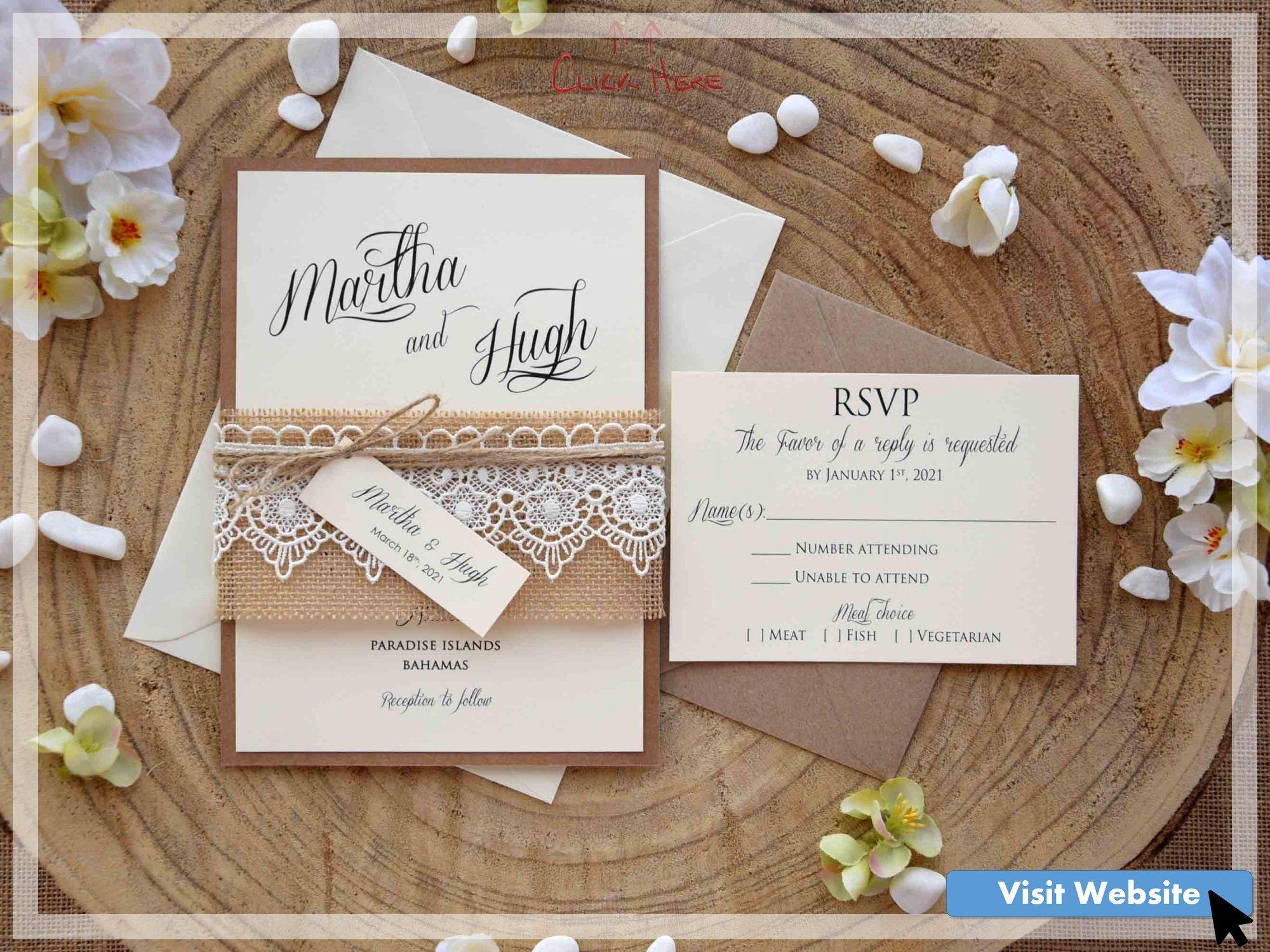 36 Wonderful Lace Wedding Invitations Vintage In 2020 Wedding Invitation Kits Creative Wedding Invitations Wedding Invitations Rustic Lace