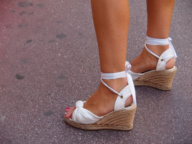 White espadrilles in Saint Tropez - photo by Vicki Archer for French Essence