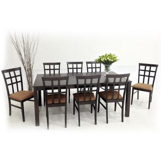 Warehouse Of Tiffany Light Cappuccino Justin With Juno Dining Furniture Set    Overstock™ Shopping   Big Discounts On Warehouse Of Tiffany Dining Sets