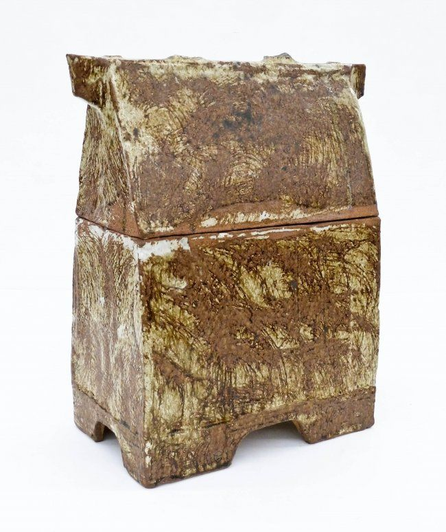 Fred Bauer B 1937 Washington Stoneware Covered Box Aug 27 2015 Mba Seattle Auction In Wa Covered Boxes Stoneware Antique Auctions