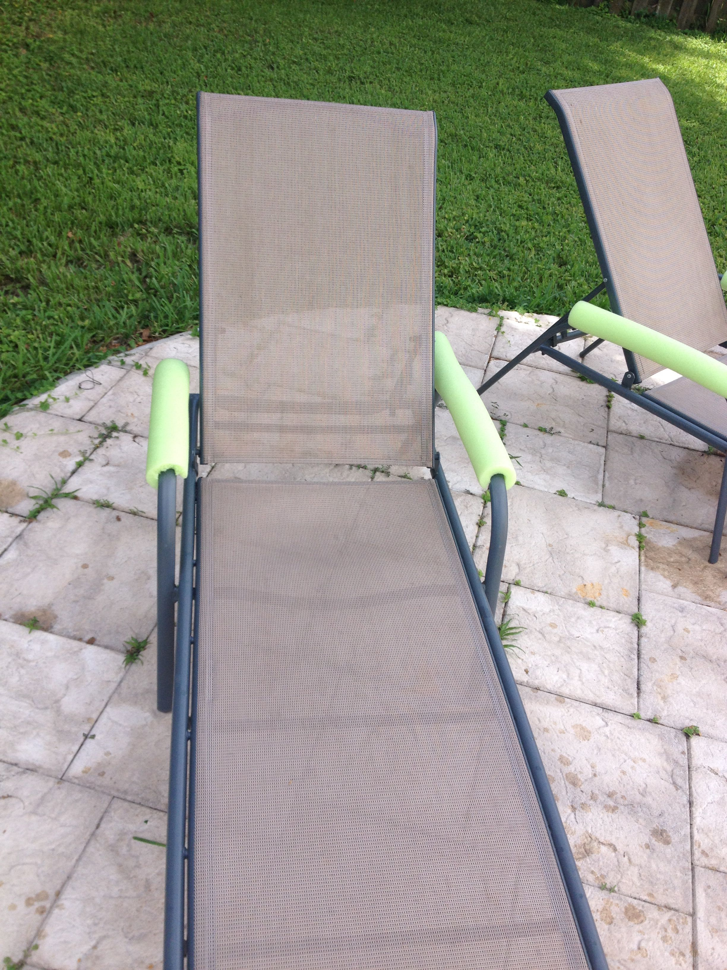 Arm Rests Too Hot On Those Lounge Chairs Cut A Pool Noodle In Half And