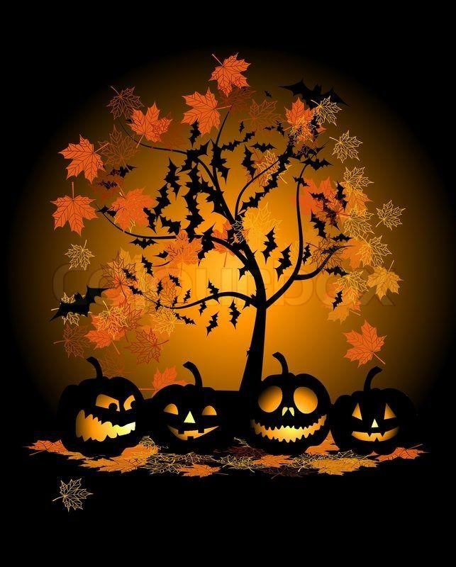 Halloween Autumn Tree … | Pinteres…