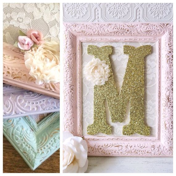 Nursery Letter M Baby Girl Nursery Letters Pink and Gold Wall ...