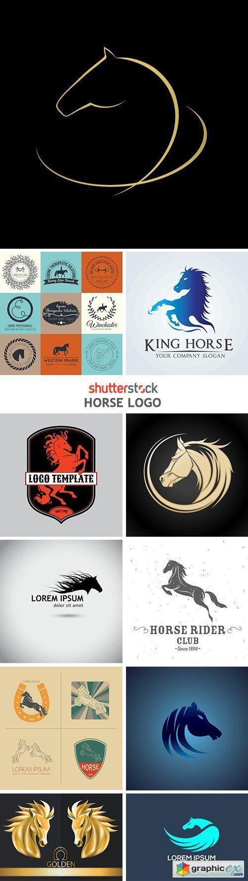 T shirt design 7 25xeps - Horse Logo 25xeps More