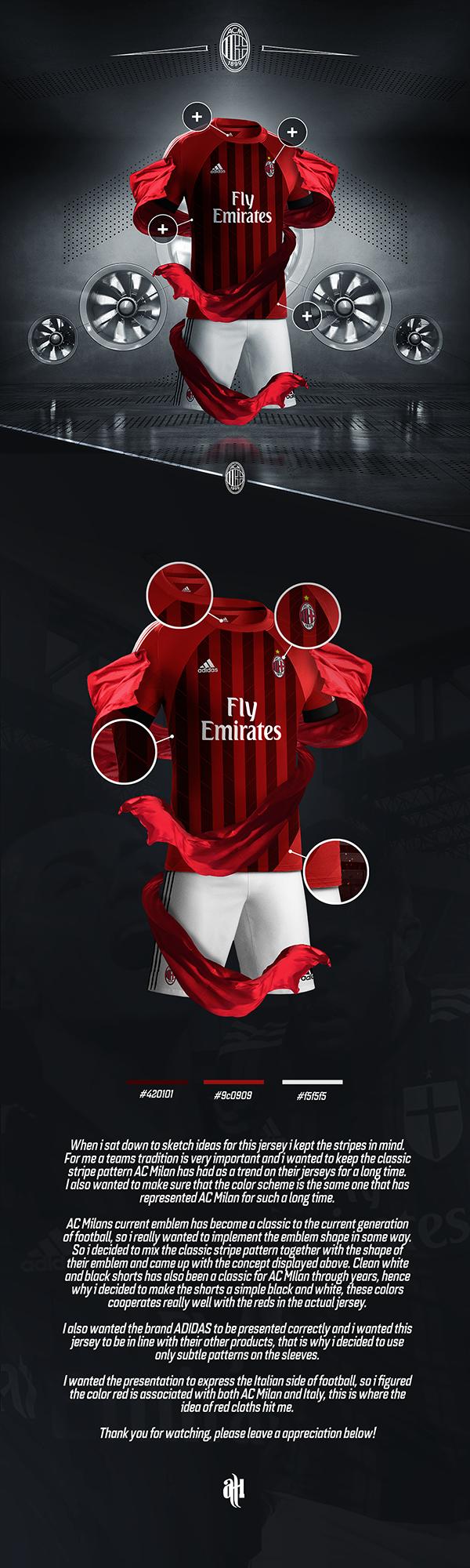 Poster design kit - Ac Milan Kit Design On Behance