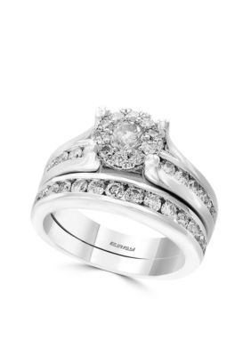 Effy Men S 2 Piece Engagement Wedding Band Set White Gold 7