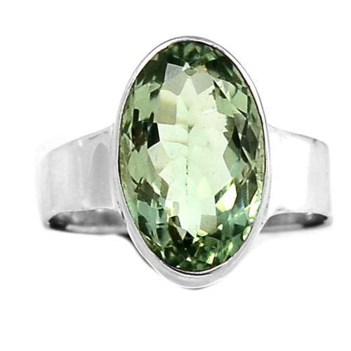 Green-Amethyst-Prasiolite-925-Sterling-Silver-Ring-Jewelry-s-9-5-SR102751