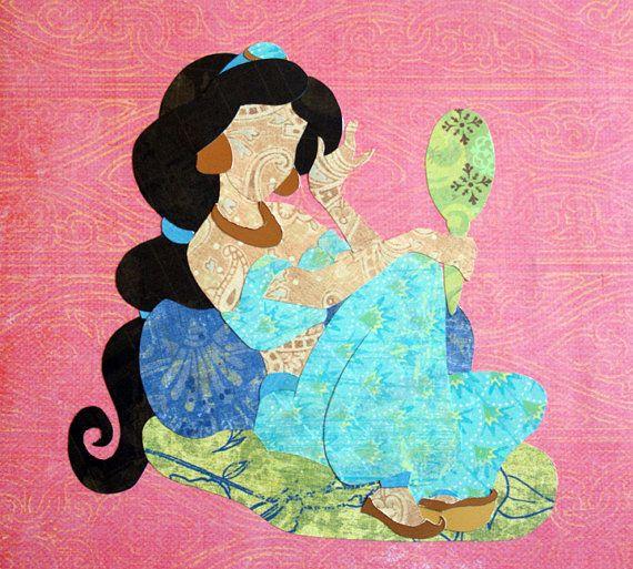 Paper Princess Jasmine by dreamcaravan on Etsy, $18.00