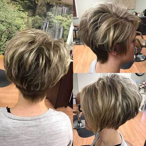 Best Short Layered Haircuts For Women Over 50 The Undercut Pixie Haircut Short Bob Hairstyles Short Hair Styles