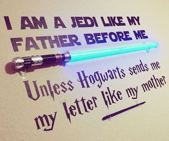 Cool Star Wars And Harry Potter Wall Decal Harry Potter Memes Clean Harry Potter Wall Star Wars Quotes