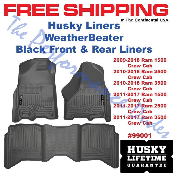 Same Business Day Shipping Husky Weatherbeater Floor Liners 2009