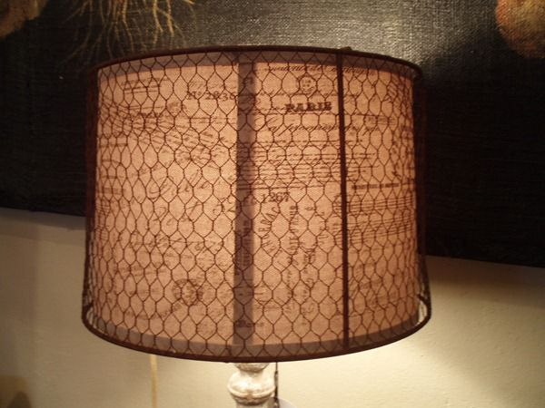 Chicken wire on a lamp shade other neat lamp shades and lamps on chicken wire on a lamp shade other neat lamp shades and lamps on this link lamps pinterest chicken wire fabric ribbon and woven fabric greentooth Choice Image