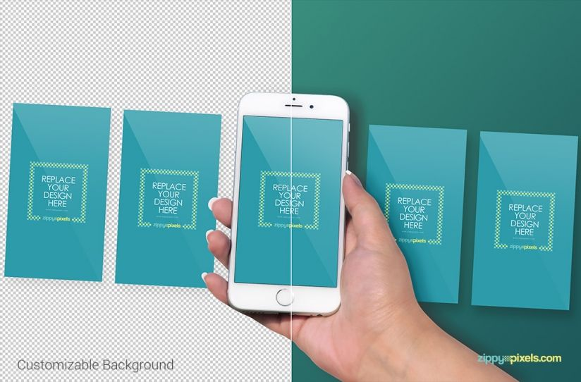 Free iPhone 6S Perspective Screen Mockup For App & Web Designs ...