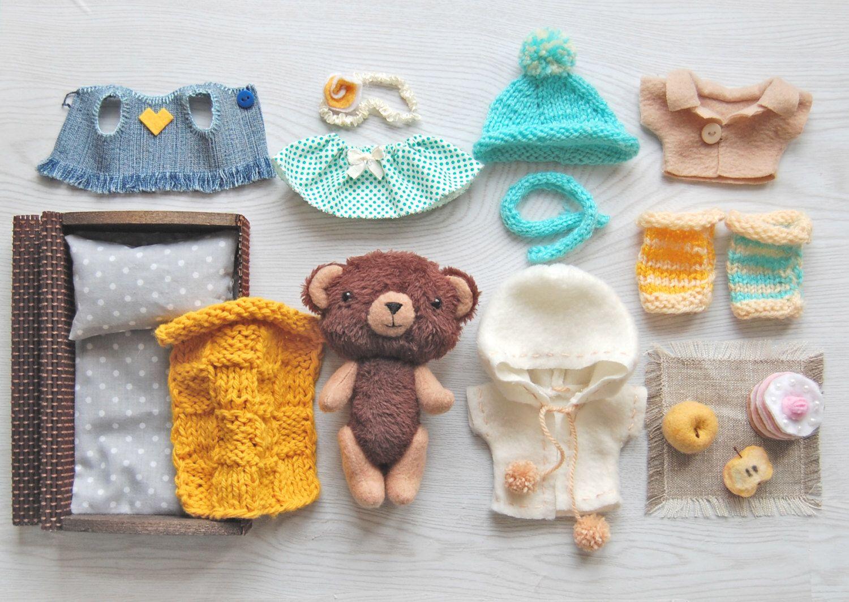 Stuffed Animal 6 Inch Teddy Bear Gift Miniature Soft Toy With Etsy Teddy Bear Gifts Doll Softie Handmade Toys [ 1062 x 1500 Pixel ]