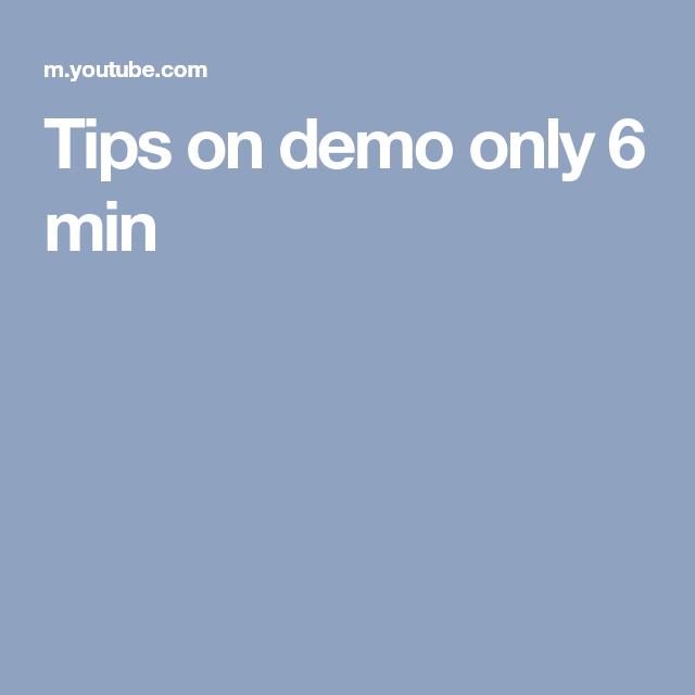 Tips on demo only 6 min | 1 VIPKIDS | Pinterest