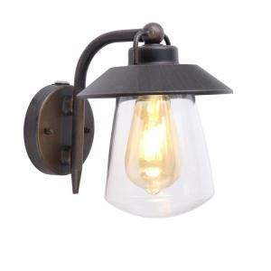 Home Decorators Collection 1 Light Rust Outdoor Wall Lantern Sconce With Photocell 2642 Pho Outdoor Wall Mounted Lighting Outdoor Wall Lantern Outdoor Walls