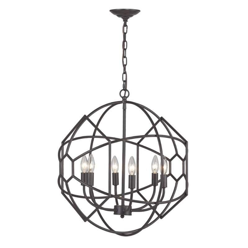 Sterling Industries 140-005 Strathroy 6 Light 1 Tier Chandelier Aged Bronze Indoor Lighting Chandeliers