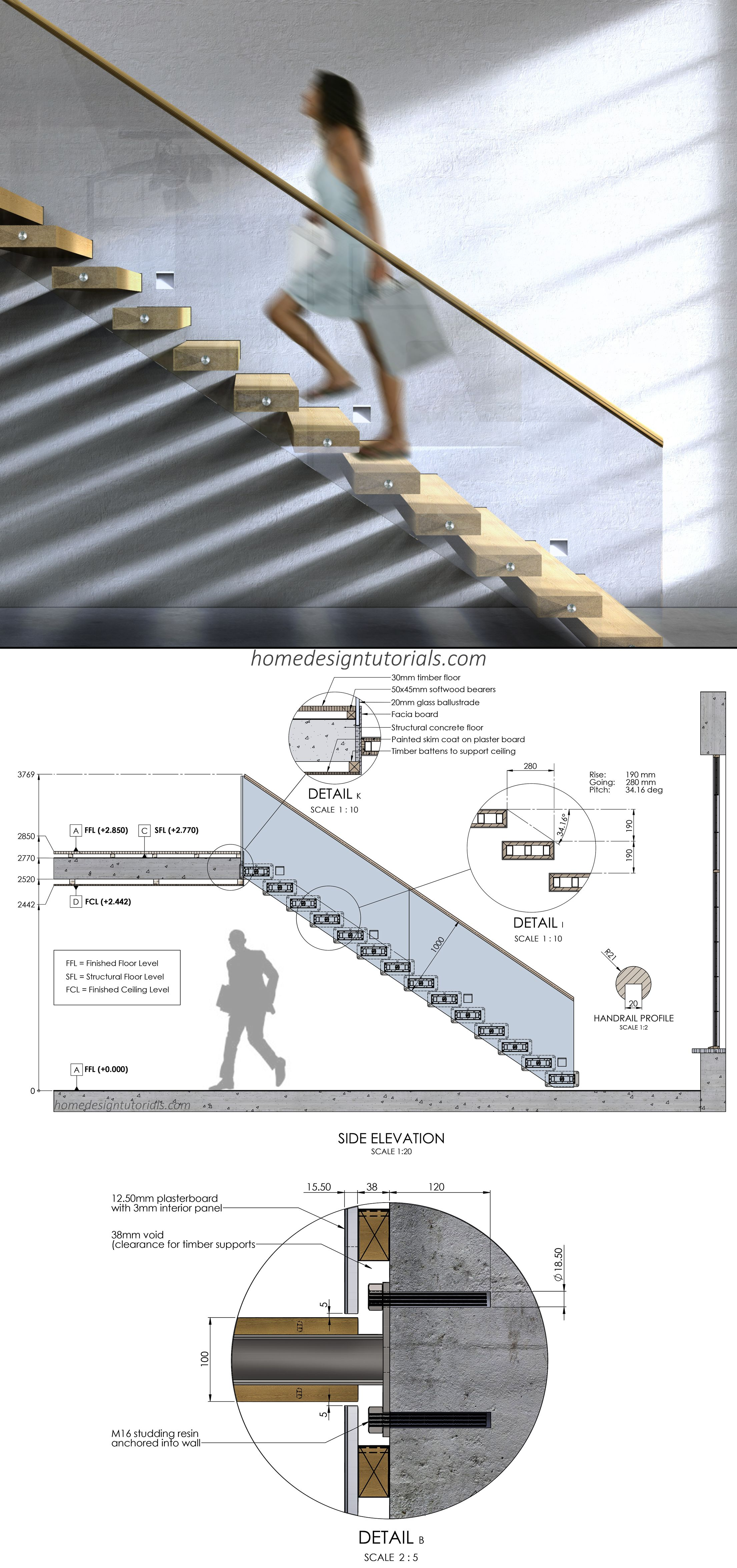 Cantilevered Staircase Design Tutorial