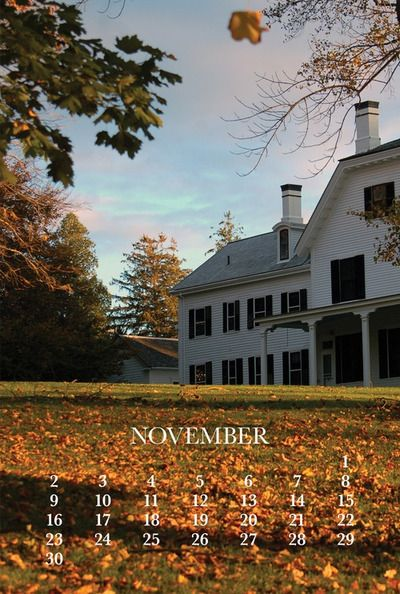 The days of November via Hummingbird Cottage